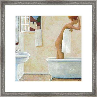 Bather Framed Print by Glenn Quist