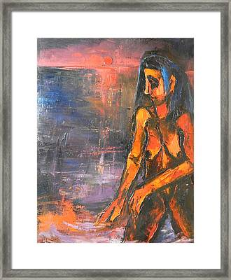 Framed Print featuring the painting Bather by Kenneth Agnello