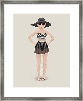Bather Framed Print by Mollie Fabric