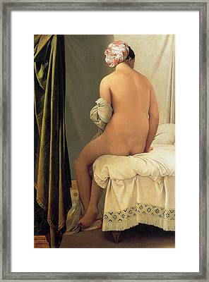 Bather Of Valpincon Framed Print by Jean-August-Dominique Ingres