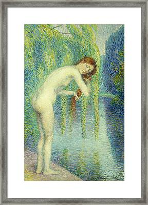 Bather Washing Her Hair Framed Print