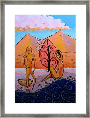 Bathers 1 Framed Print by Aliza Souleyeva-Alexander
