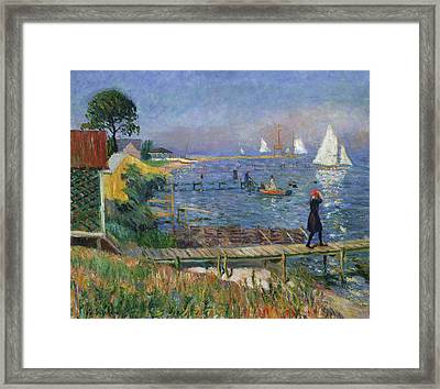 Bathers At Bellport Framed Print