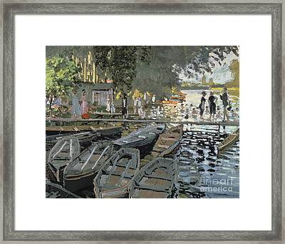 Bathers At La Grenouillere Framed Print by Celestial Images