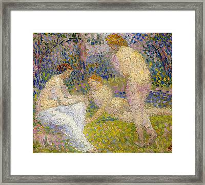 Bathers Framed Print by Hippolyte Petitjean