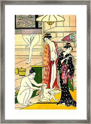 Bathhouse Women II 1780 Framed Print