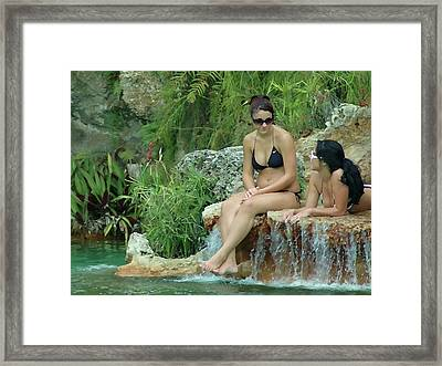 Bathing Beauties Framed Print
