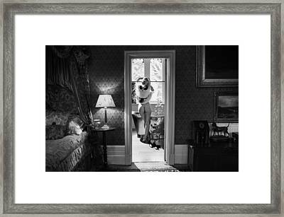 Bathing Beauty Framed Print by Damien Lovegrove