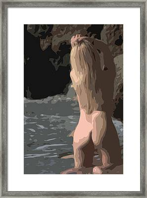 Bathing Goddess Framed Print