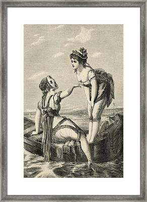 Bathing In September Framed Print