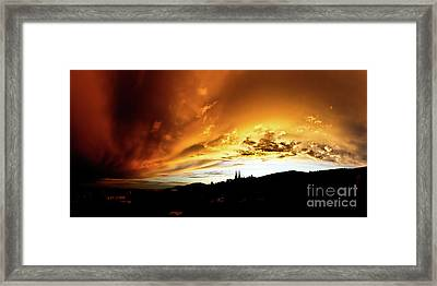 Framed Print featuring the photograph Bathing In The Light Of The Heavens by Charles Lupica