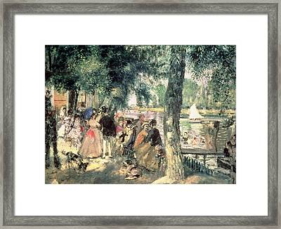 Bathing On The Seine Or La Grenouillere Framed Print by Pierre Auguste Renoir