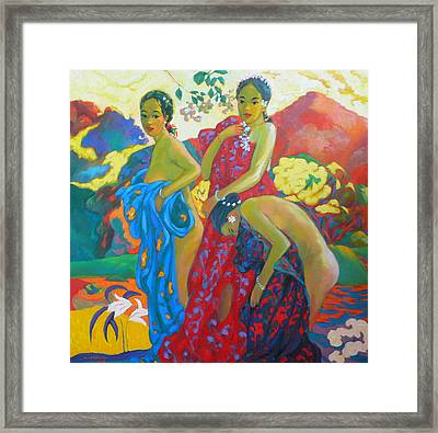 Bathing4 Framed Print by Tung Nguyen Hoang