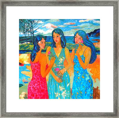 Bathing9 Framed Print by Tung Nguyen Hoang