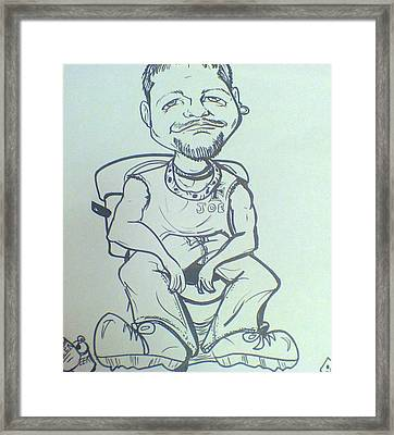 Bathroom Humor Framed Print by Trinket Elliott