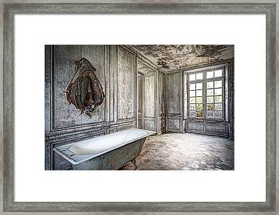Bathroom In Decay - Abandoned Building Framed Print by Dirk Ercken