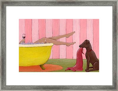 Bathtime Framed Print by Christy Beckwith