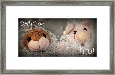 Bathtime Is Fun Framed Print
