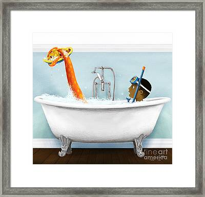 Bathtime Framed Print
