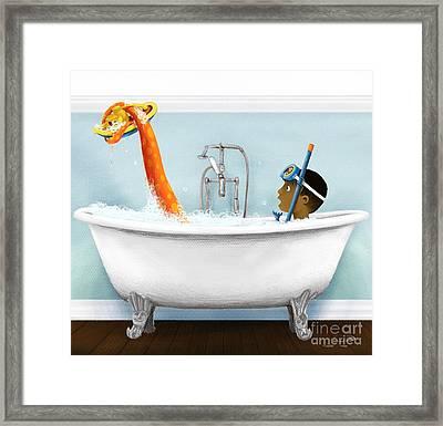 Bathtime Framed Print
