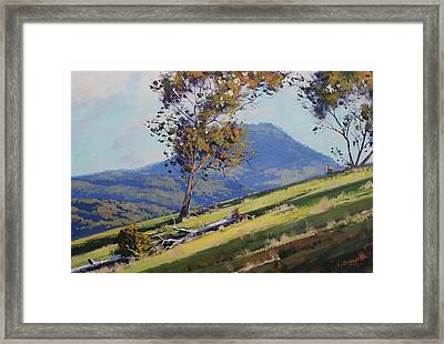 Bathurst Hillside Framed Print