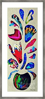 Batik Bouquet Framed Print
