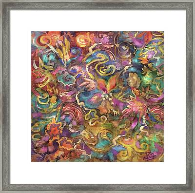 Batik Colorburst Framed Print