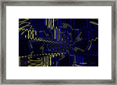 Batik Fabrik Framed Print by Fania Simon