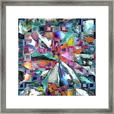 Batik Overlay Framed Print