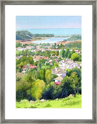 Batiquitos View Framed Print by Mary Helmreich