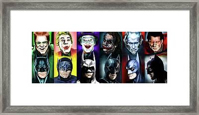 Batman 1966 - 2016 Framed Print by Vinny John Usuriello
