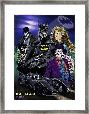 Batman 1989 Framed Print by Joseph Burke