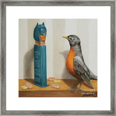 Batman And Robin Framed Print by Judy Sherman