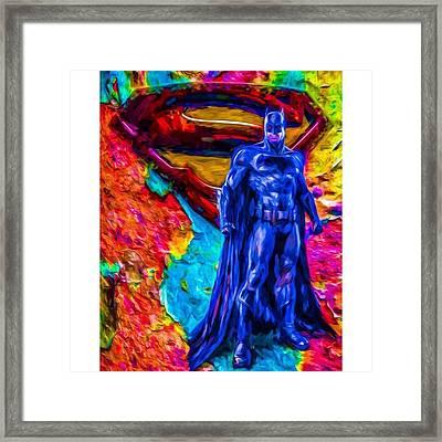 #batman #batmanvsuperman #dc #dccomics Framed Print