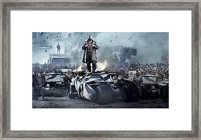 Batman Dark Knight Rises Wallpaper Framed Print by F S