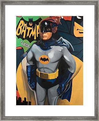 Batman Framed Print by Karl Melton