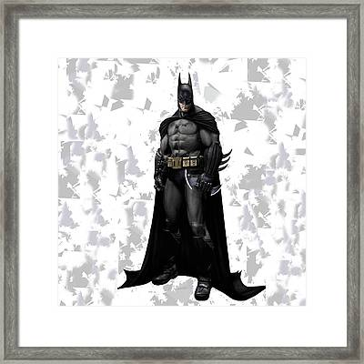 Batman Splash Super Hero Series Framed Print
