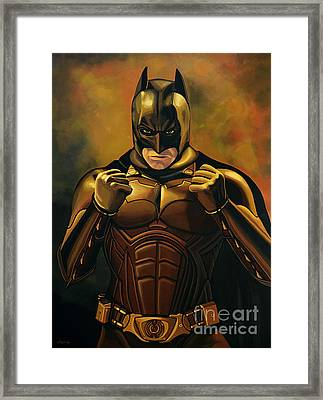 Batman The Dark Knight  Framed Print by Paul Meijering