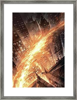 Batman The Dark Knight Returns 2012  Framed Print by Unknown