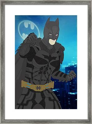 Batman - The Dark Knight Framed Print by Troy Arthur
