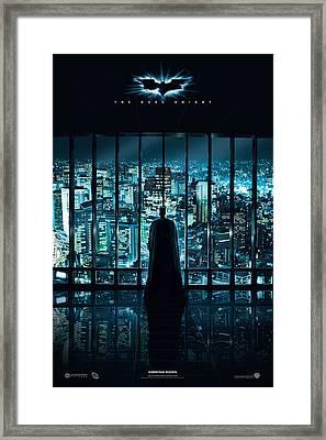 Batman The Dark Night Framed Print