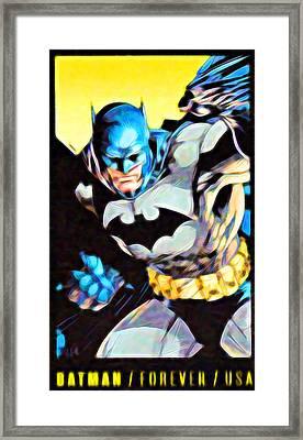Batman's 75th Anniversary Stamps 3 Framed Print