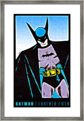 Batman's 75th Anniversary Stamps 4 Framed Print