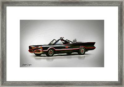 Batmobile Framed Print by Leonardo Digenio