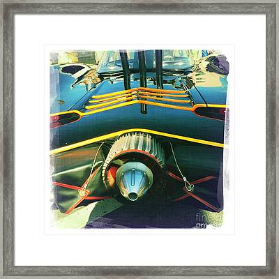 Batmobile Framed Print by Nina Prommer