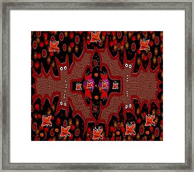Bats In The Dark Framed Print by Pepita Selles