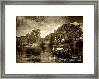 batteau on the James Framed Print