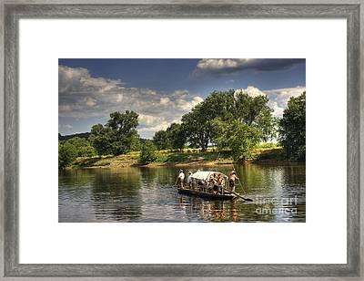 Batteau On The James River Framed Print