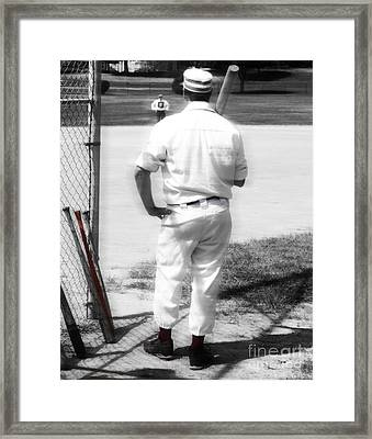 Batter On Deck  Framed Print by Steven Digman