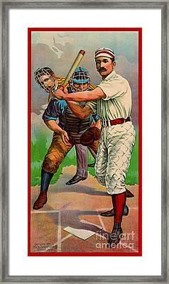 Batter Up 1895 B Framed Print